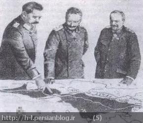یک عکس جعل شده است متفقین با تغییر نقشه ها،قصیر و فرماندهانش را در حال کار برای عملیات در روسیه و بالکان نشان می دهند. متفقین حتی چهره قصیرو فرماندهانش را هم اهریمنی جلوه داده اند.